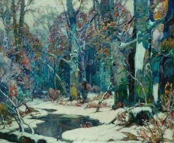 色调高雅的静谧山林,美国艺术家卡尔森作品插图