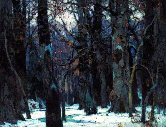 色调高雅的静谧山林,美国艺术家卡尔森作品插图5