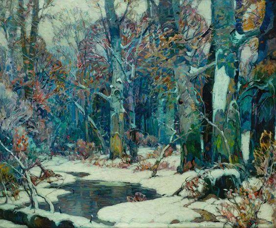 色调高雅的静谧山林,美国艺术家卡尔森作品插图7