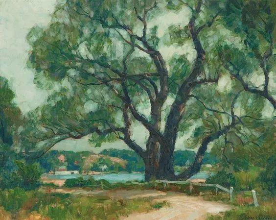 色调高雅的静谧山林,美国艺术家卡尔森作品插图9