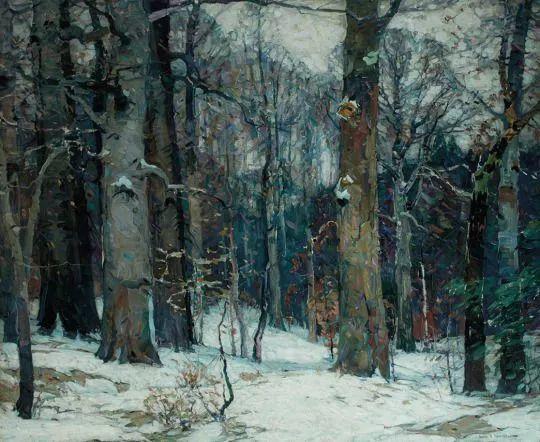 色调高雅的静谧山林,美国艺术家卡尔森作品插图10