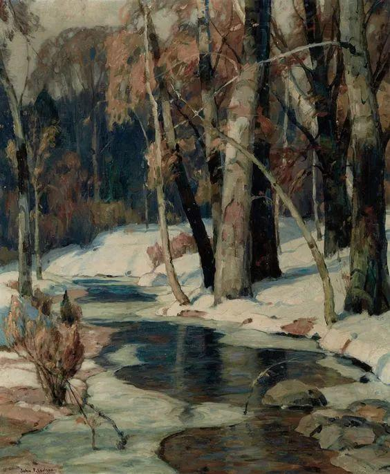 色调高雅的静谧山林,美国艺术家卡尔森作品插图11
