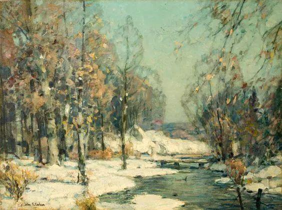 色调高雅的静谧山林,美国艺术家卡尔森作品插图12