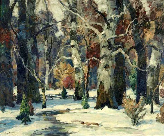 色调高雅的静谧山林,美国艺术家卡尔森作品插图13