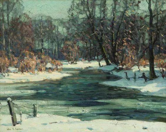 色调高雅的静谧山林,美国艺术家卡尔森作品插图15