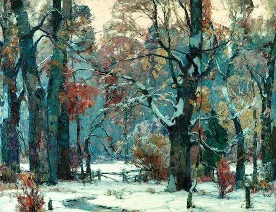 色调高雅的静谧山林,美国艺术家卡尔森作品插图18