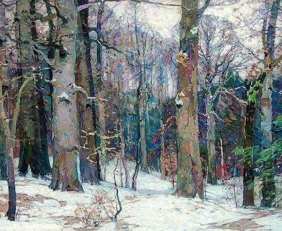 色调高雅的静谧山林,美国艺术家卡尔森作品插图19