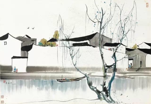 吴冠中百年诞辰丨想念我,就去看我的画吧!插图16