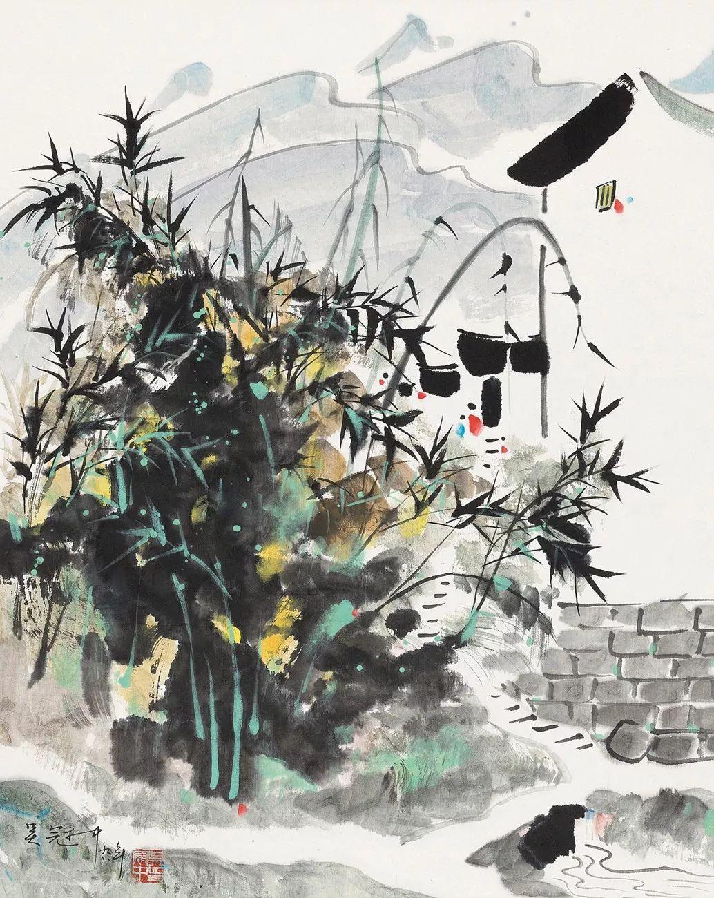 吴冠中百年诞辰丨想念我,就去看我的画吧!插图45