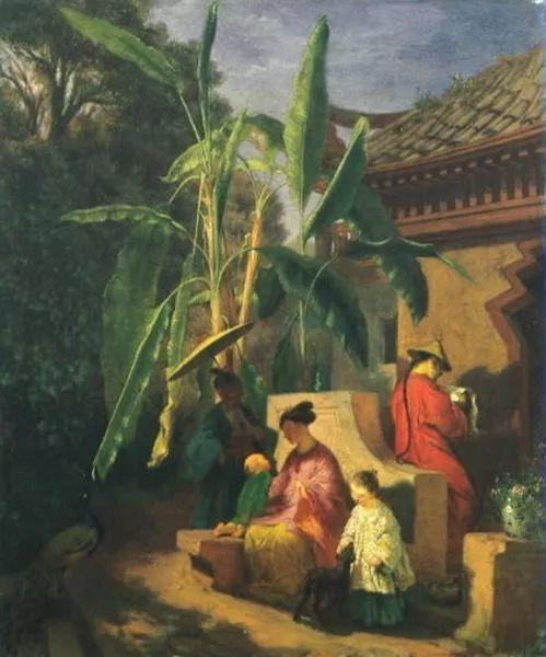 1858年画的中国茶室——捷克画家马内斯插图1
