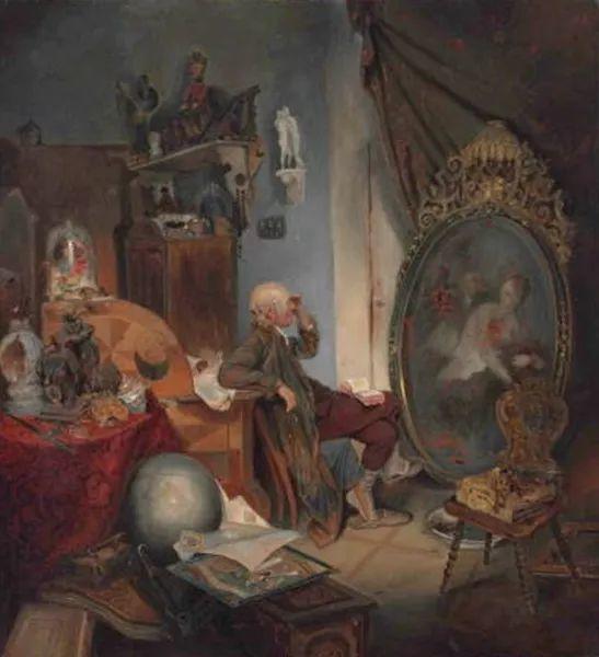 1858年画的中国茶室——捷克画家马内斯插图7