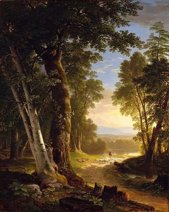 """杜兰德——他经常被称为""""美国风景画之父""""插图"""