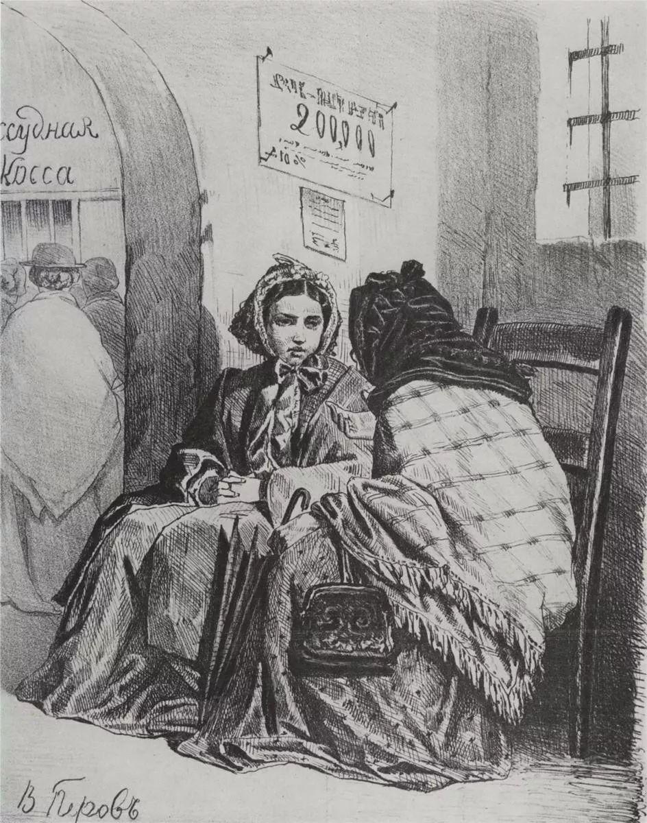 朴素的劳动人民,俄罗斯画家佩罗夫插图39