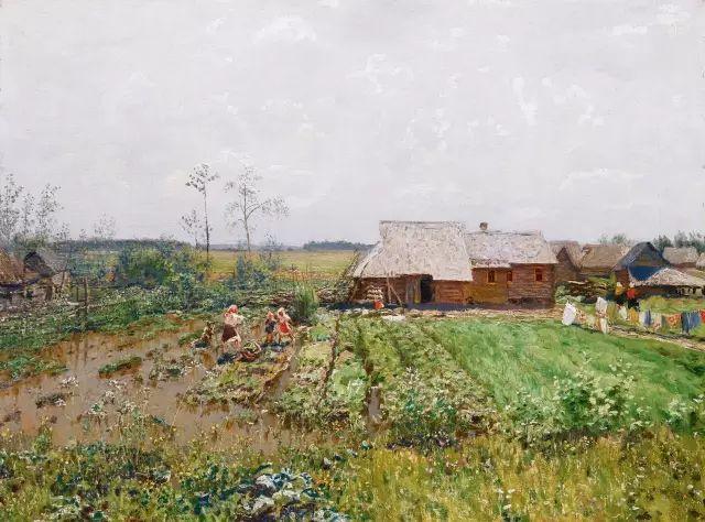 风景油画 俄罗斯画家杜波夫斯科伊作品欣赏插图1