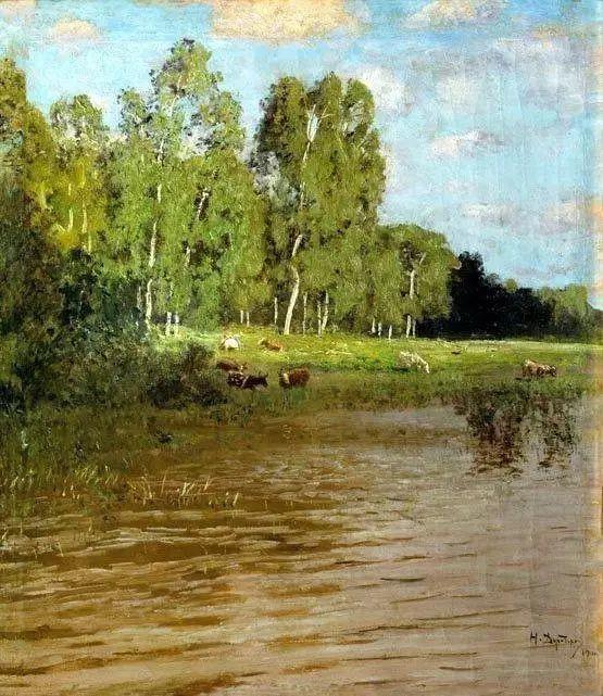 风景油画 俄罗斯画家杜波夫斯科伊作品欣赏插图12