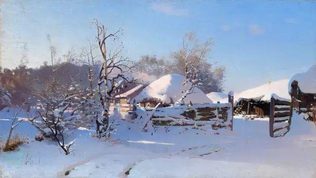 风景油画 俄罗斯画家杜波夫斯科伊作品欣赏插图15