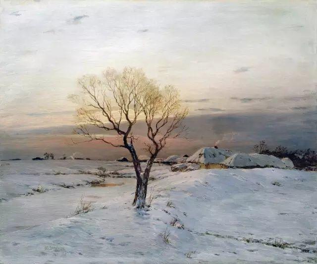 风景油画 俄罗斯画家杜波夫斯科伊作品欣赏插图18