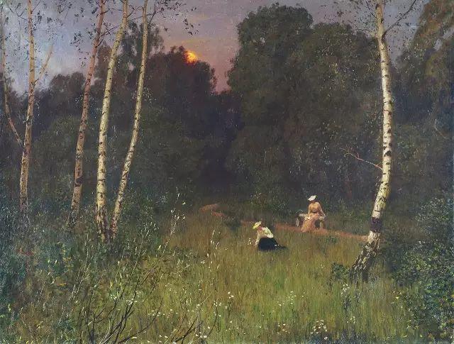 风景油画 俄罗斯画家杜波夫斯科伊作品欣赏插图24