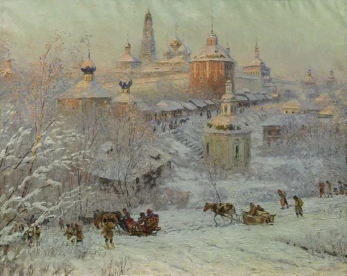 风景油画 俄罗斯画家杜波夫斯科伊作品欣赏插图30