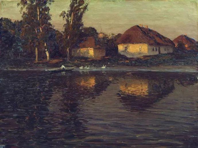 风景油画 俄罗斯画家杜波夫斯科伊作品欣赏插图35