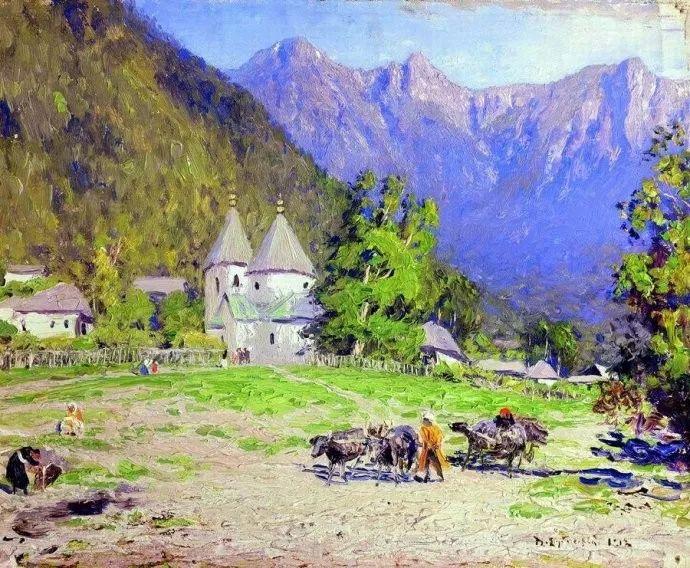 风景油画 俄罗斯画家杜波夫斯科伊作品欣赏插图44