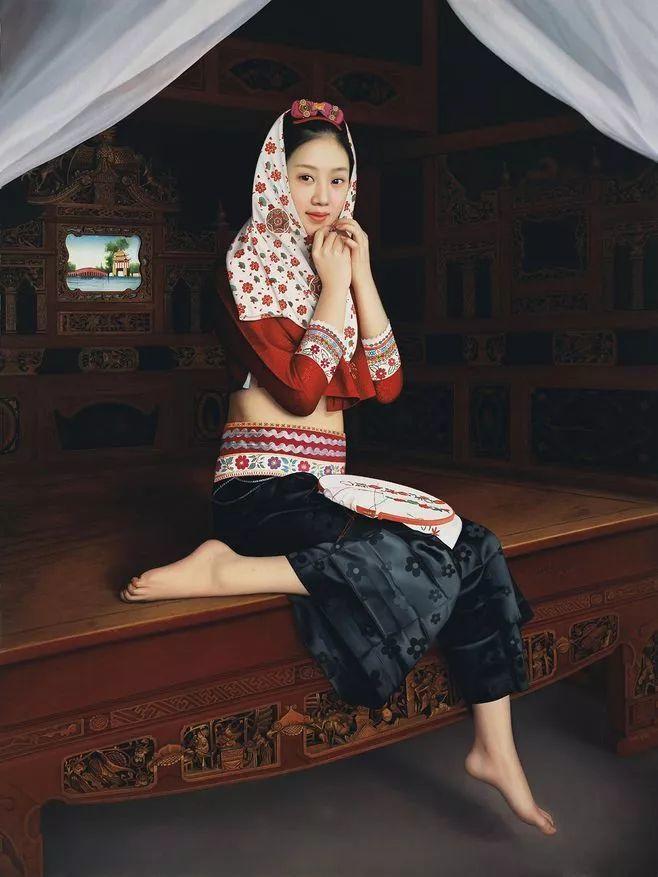 一幅油画卖到448万,这画中的少女到底有多美!插图1