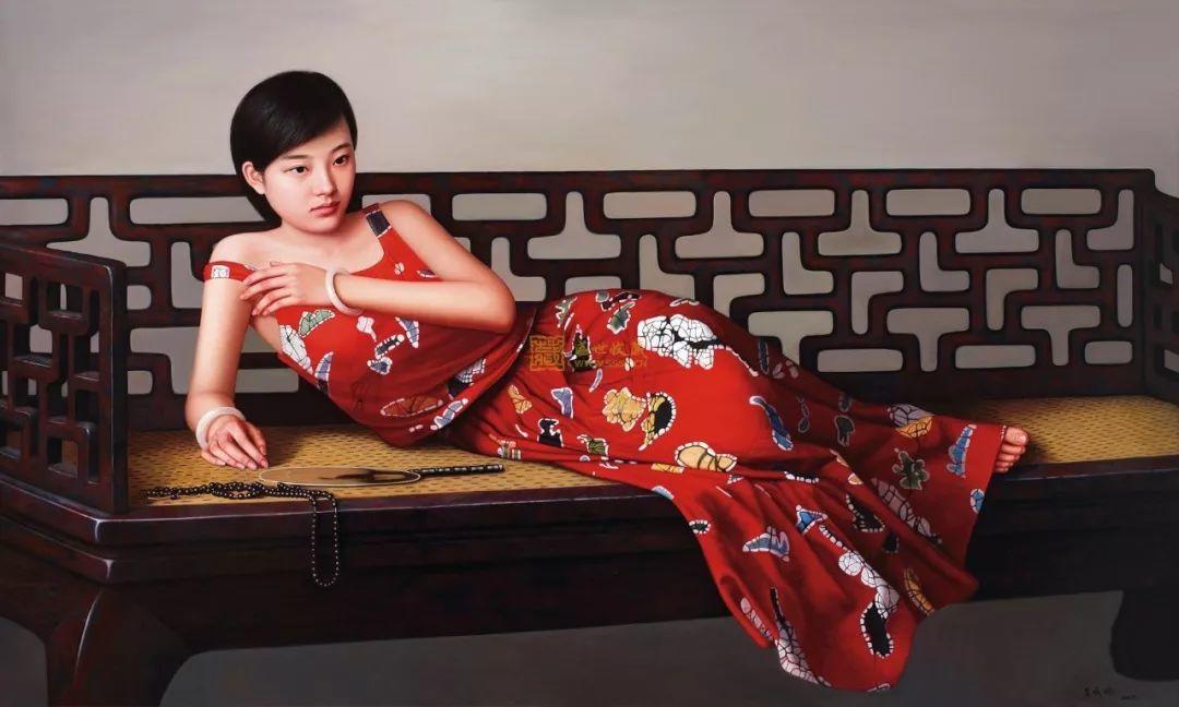 一幅油画卖到448万,这画中的少女到底有多美!插图25