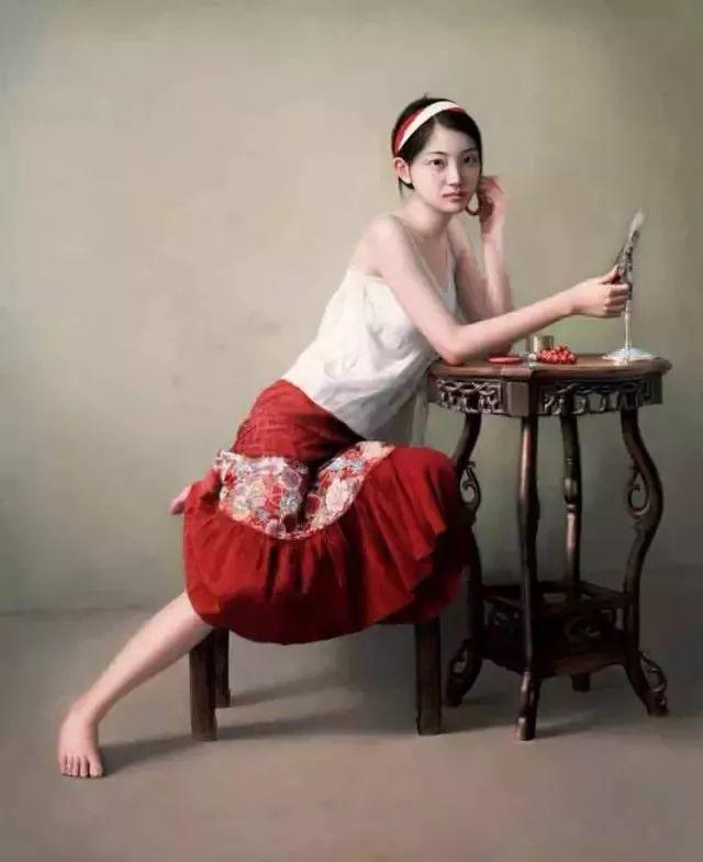 一幅油画卖到448万,这画中的少女到底有多美!插图27