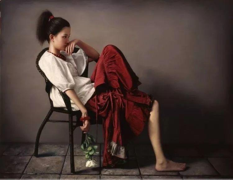 一幅油画卖到448万,这画中的少女到底有多美!插图31