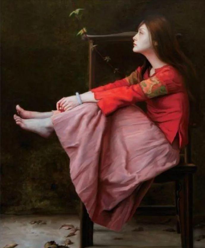 一幅油画卖到448万,这画中的少女到底有多美!插图39