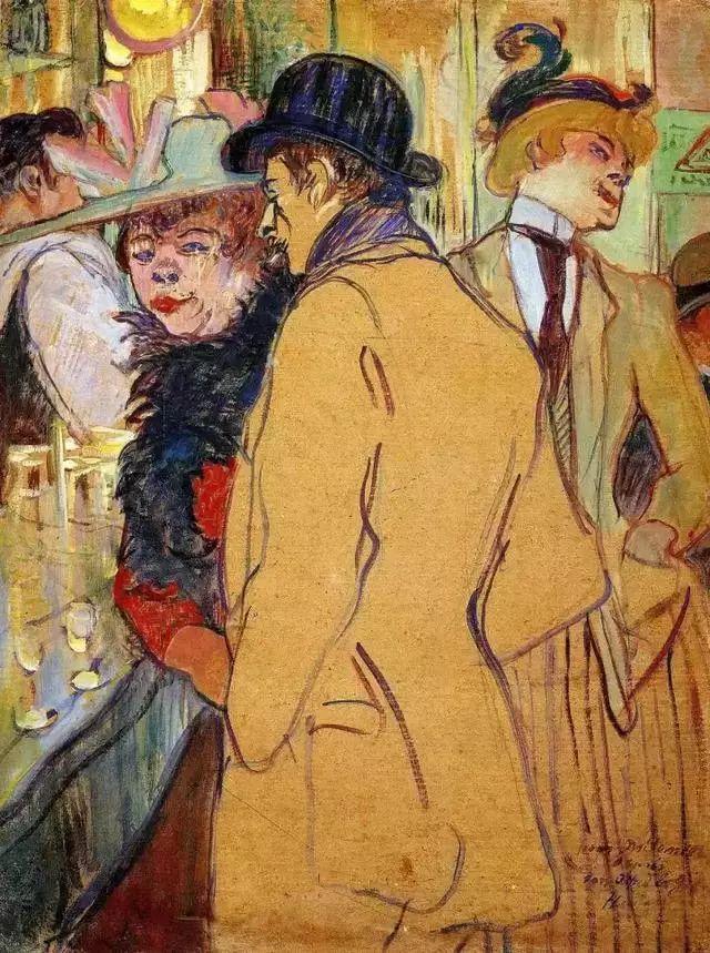 法国贵族,自幼残疾,年仅37岁,后印象派画家罗特列克插图59