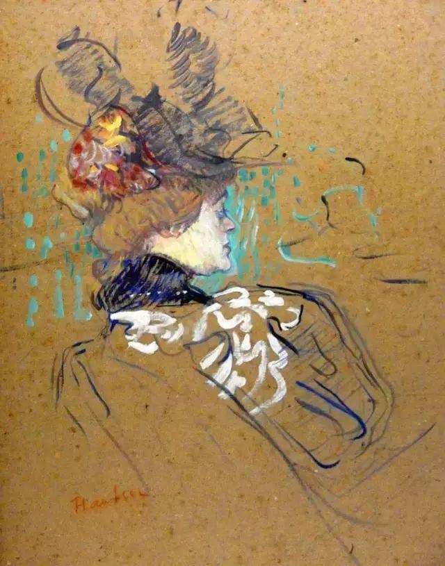 法国贵族,自幼残疾,年仅37岁,后印象派画家罗特列克插图75