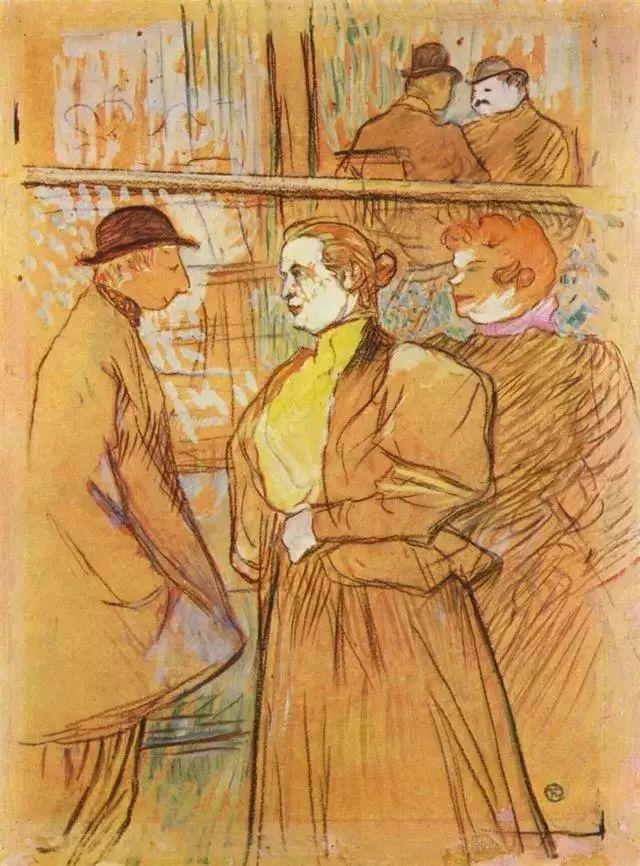 法国贵族,自幼残疾,年仅37岁,后印象派画家罗特列克插图77