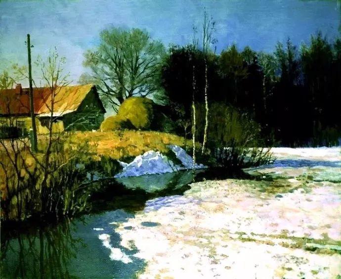 风景油画 俄罗斯画家莫克申·尤里插图5