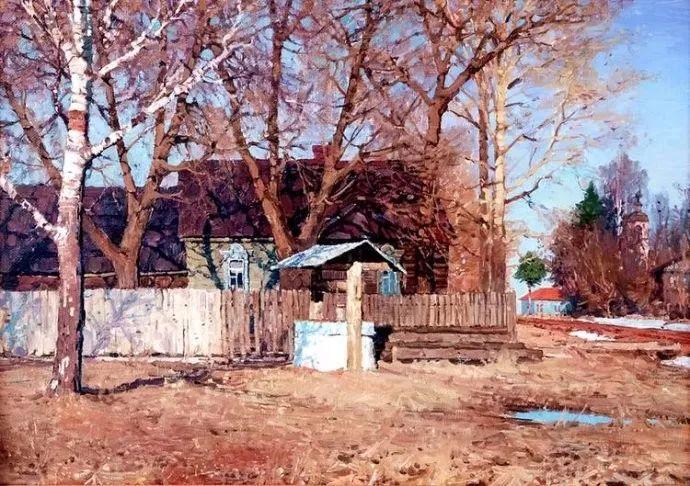 风景油画 俄罗斯画家莫克申·尤里插图7
