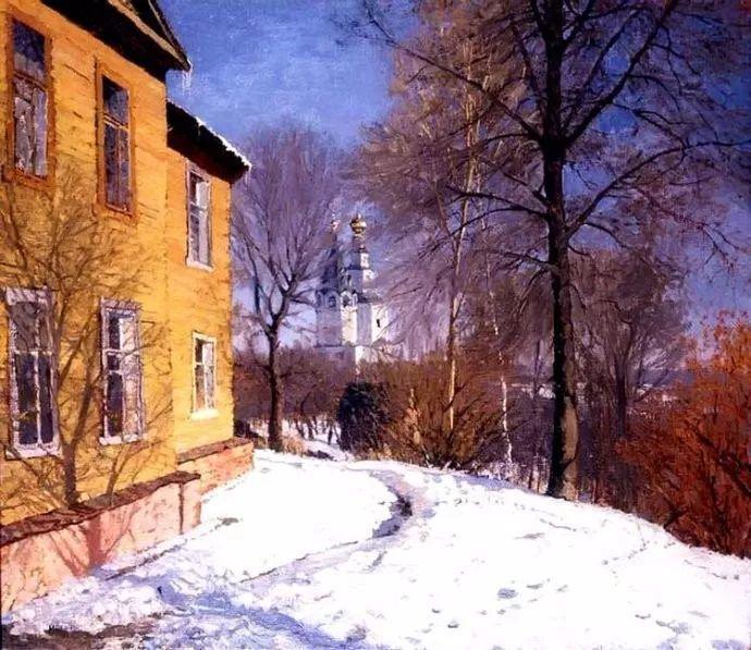风景油画 俄罗斯画家莫克申·尤里插图9