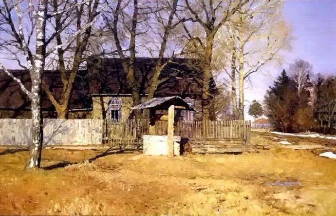 风景油画 俄罗斯画家莫克申·尤里插图11