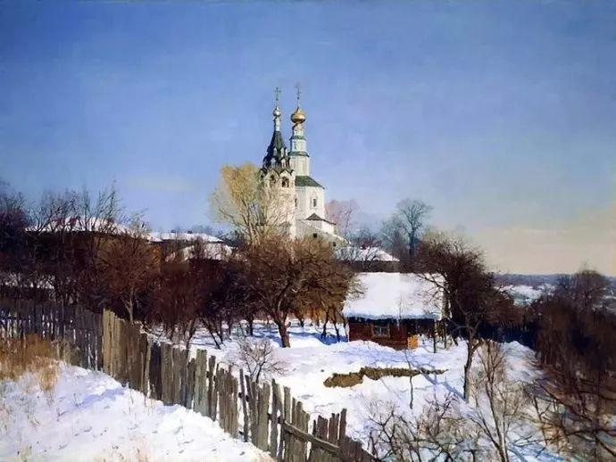风景油画 俄罗斯画家莫克申·尤里插图13