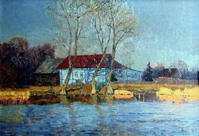 风景油画 俄罗斯画家莫克申·尤里插图15