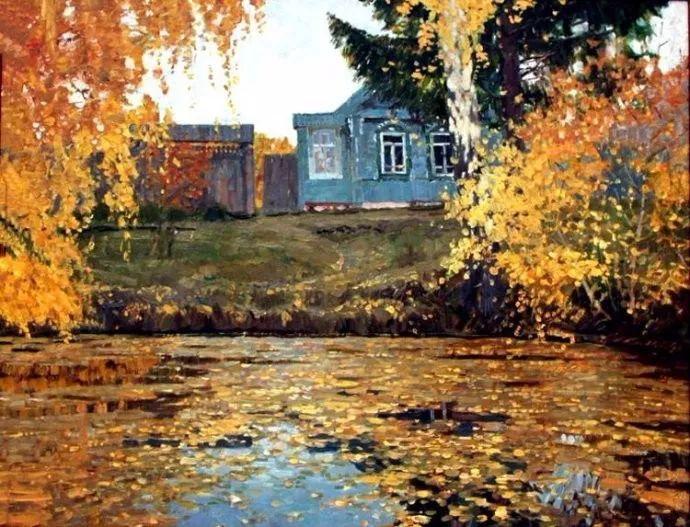 风景油画 俄罗斯画家莫克申·尤里插图19