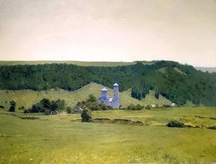 风景油画 俄罗斯画家莫克申·尤里插图23
