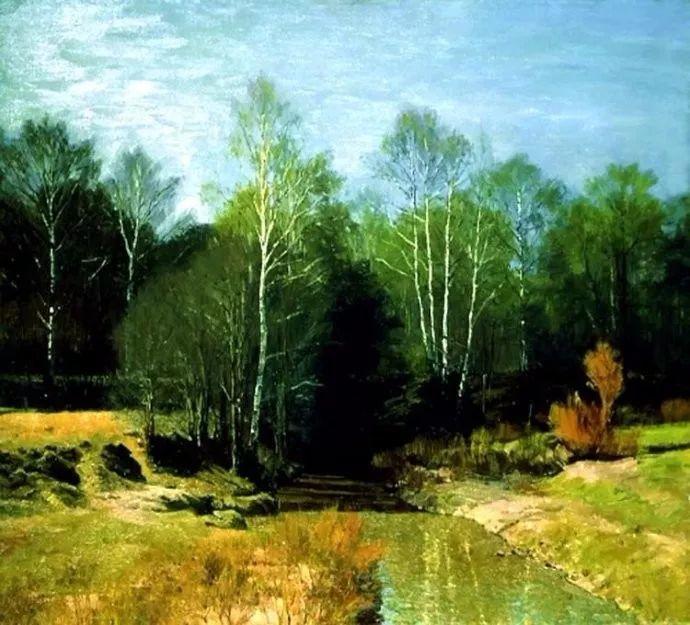 风景油画 俄罗斯画家莫克申·尤里插图27