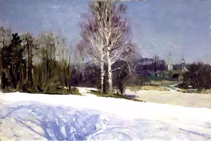风景油画 俄罗斯画家莫克申·尤里插图33