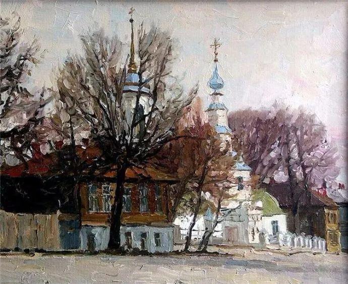 风景油画 俄罗斯画家莫克申·尤里插图37