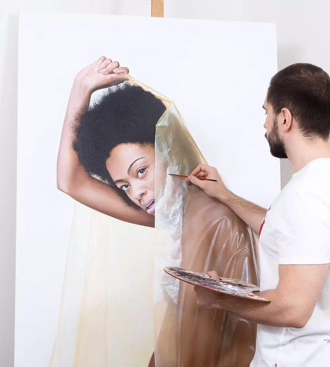 他画了一波美人,笔触精致,活色生香~插图33