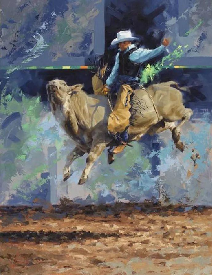 动感十足的牛马,大胆的印象派画风插图5