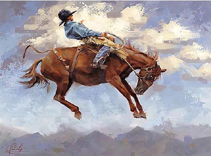 动感十足的牛马,大胆的印象派画风插图9