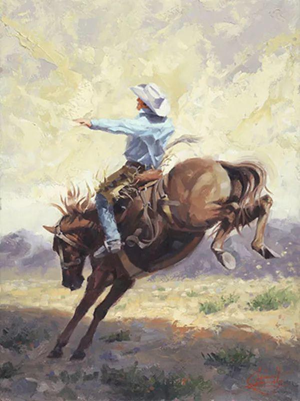 动感十足的牛马,大胆的印象派画风插图17