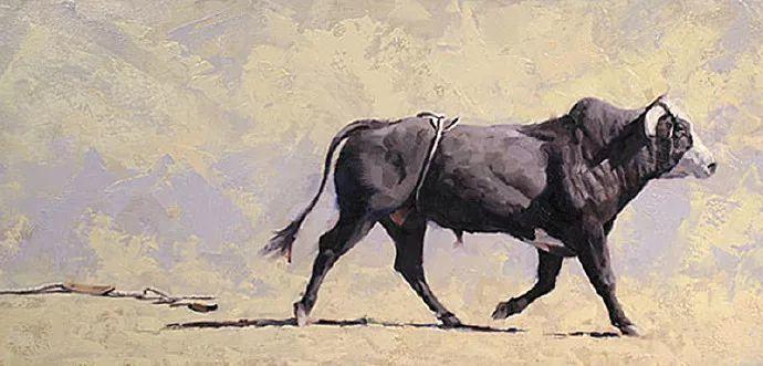 动感十足的牛马,大胆的印象派画风插图27