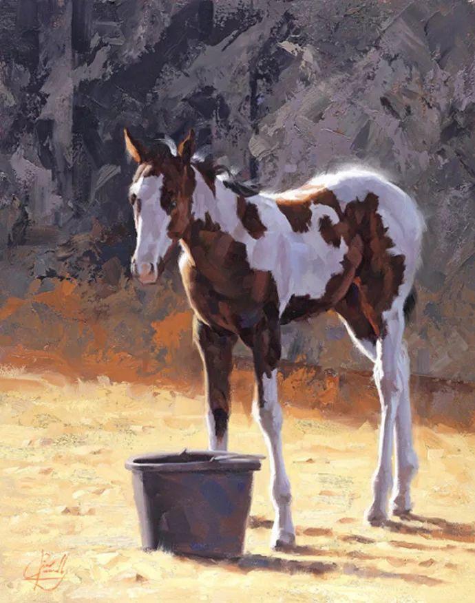 动感十足的牛马,大胆的印象派画风插图29